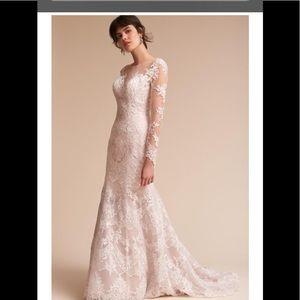 Bhldn Dresses Waterfall Wedding Dress Cream Sz 0 Poshmark